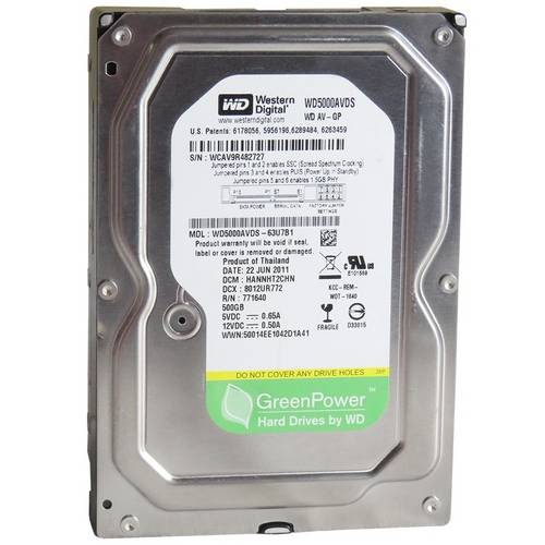Hd Interno 500gb Western Digital Wd5000avcs