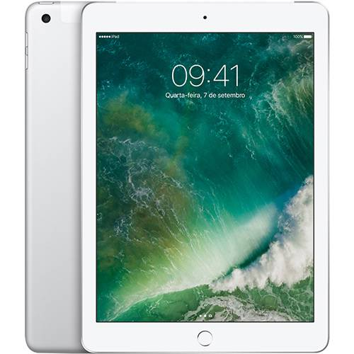Tablet Apple Ipad Mp1l2bz/a Prata 32gb Wi-fi