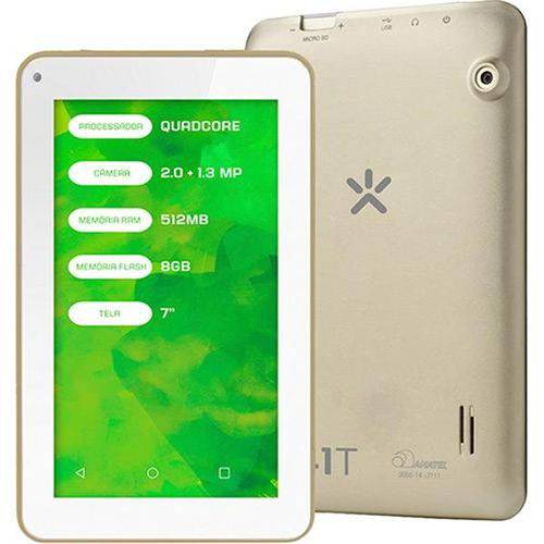 Tablet Mirage 41t Nb250 Dourado 8gb Wi-fi