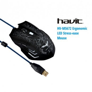 Mouse Usb Óptico Led 2400 Dpis Gamer Iluminado Hv-ms672 Havit